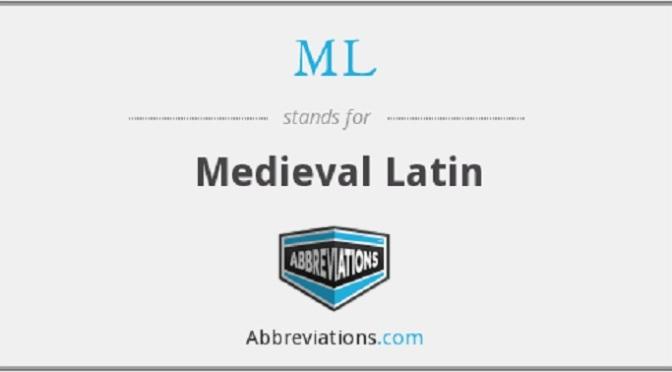 Latin & Medieval Lit